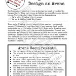 Design An Arena Math Scale Drawing Project |   Math Explorations | Hunger Games Free Printable Worksheets