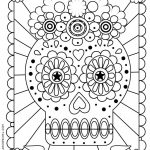 Dia De Los Muertos Coloring Page | Printable Coloring Pages | Doodle | Free Printable Day Of The Dead Worksheets