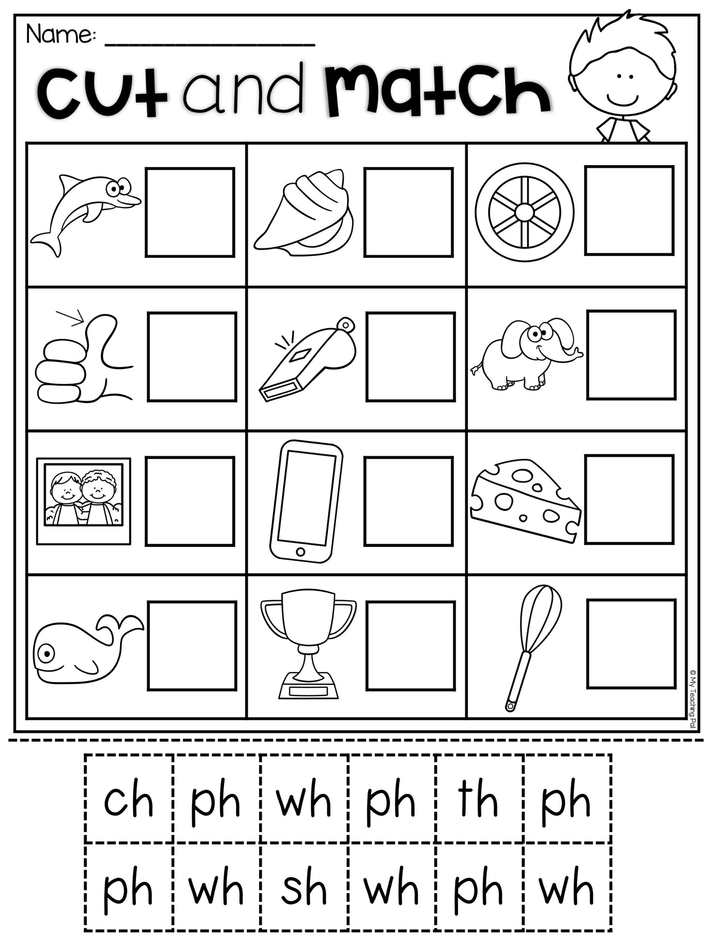 Digraph Worksheet Packet - Ch, Sh, Th, Wh, Ph | Kindergarten | Digraphs Worksheets Free Printables