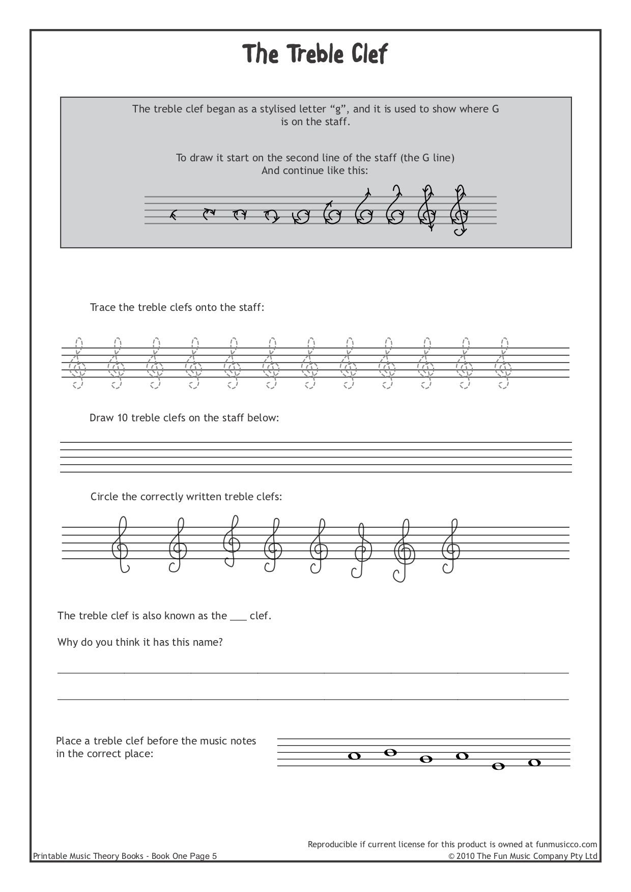 Downloadable Music Theory Worksheets At Funmusicco | Music | Free Printable Music Theory Worksheets