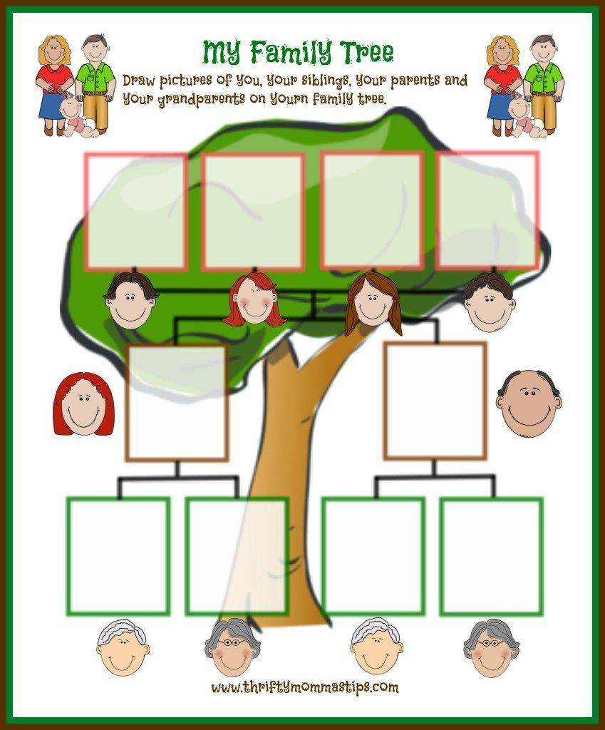 Easy Family Tree Printable For Traditional Families | Curriculum | My Family Tree Free Printable Worksheets