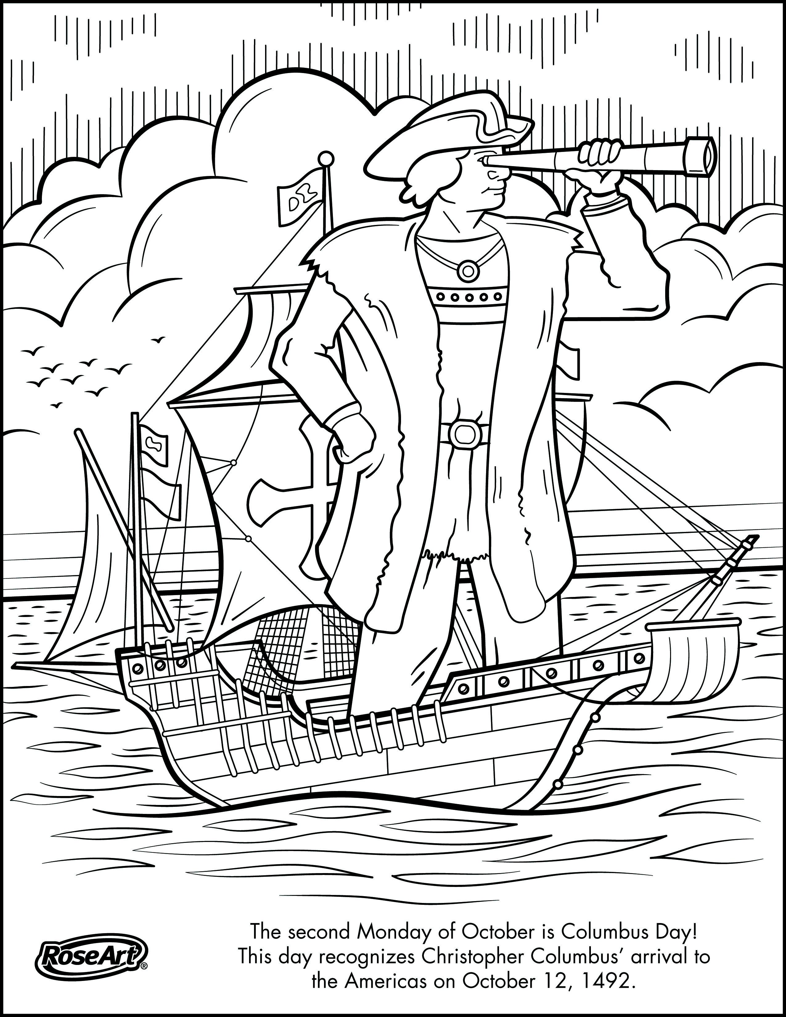 Engage Younger Kids With Columbus Day With Printable Coloring Pages | Columbus Day Worksheets Printable