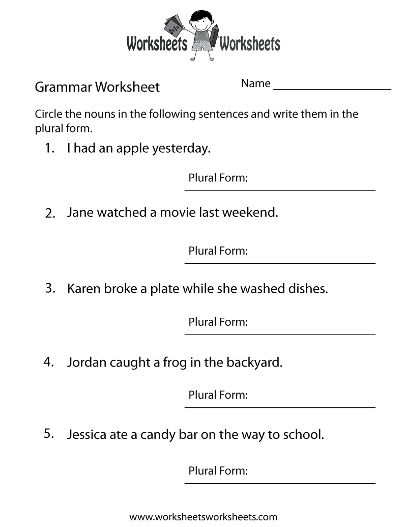 English Grammar Worksheet Printable | Grammar Worksheets | English | Esl Teacher Handouts Grammar Worksheets And Printables