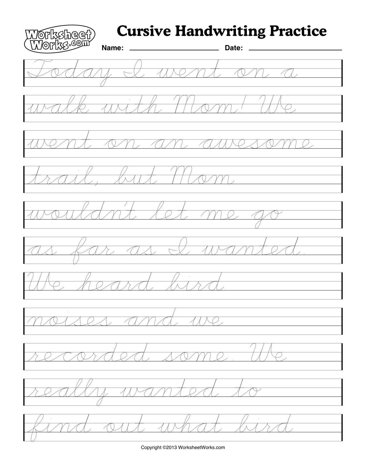 English Handwriting Practice Sheets - Koran.sticken.co | Free Printable Script Writing Worksheets