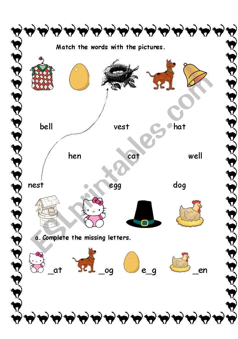 English Worksheets: 1St Grade Vocabulary Sheet | 1St Grade Vocabulary Worksheets Printable