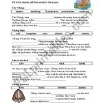 English Worksheets: Viking Cloze | Viking Worksheets Printable