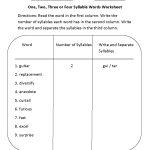 Englishlinx | Syllables Worksheets   Free Printable Open And Closed | Free Printable Open And Closed Syllable Worksheets