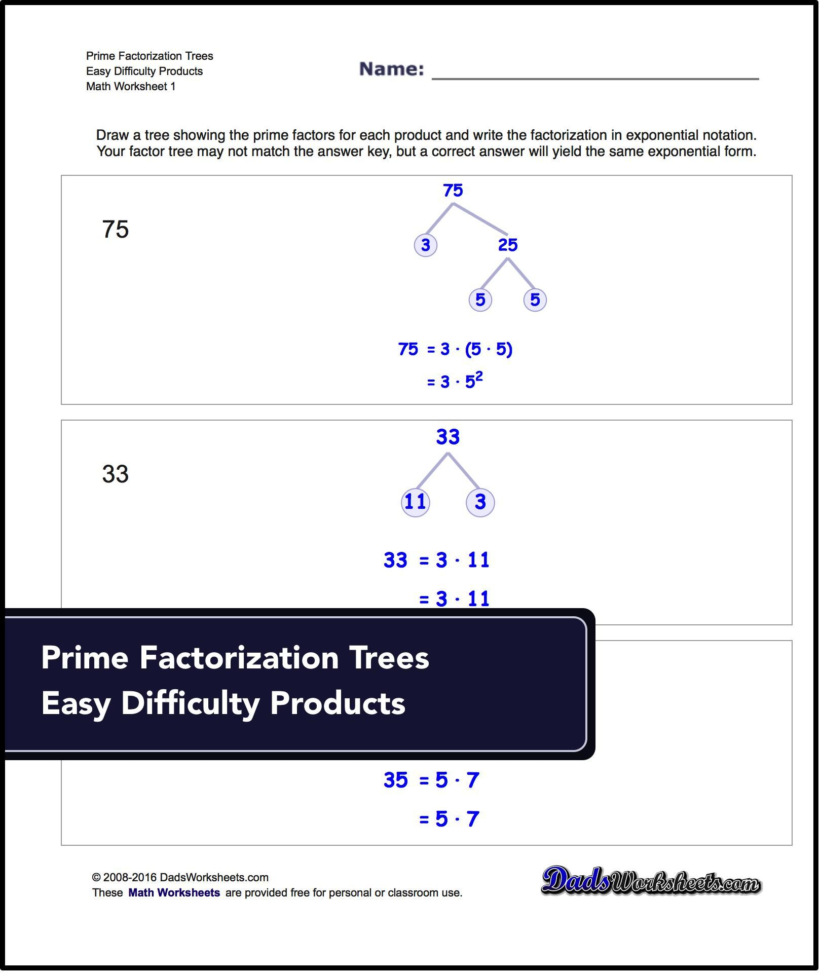 Factorization, Gcd, Lcm Printable Worksheets For Free! | Math - Free | Free Printable Lcm Worksheets