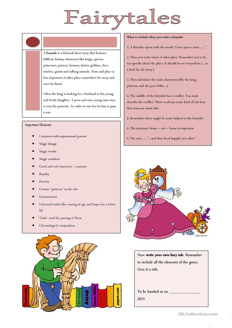 Fairy Tales Worksheet - Free Esl Printable Worksheets Madeteachers | Fairy Tale Printable Worksheets