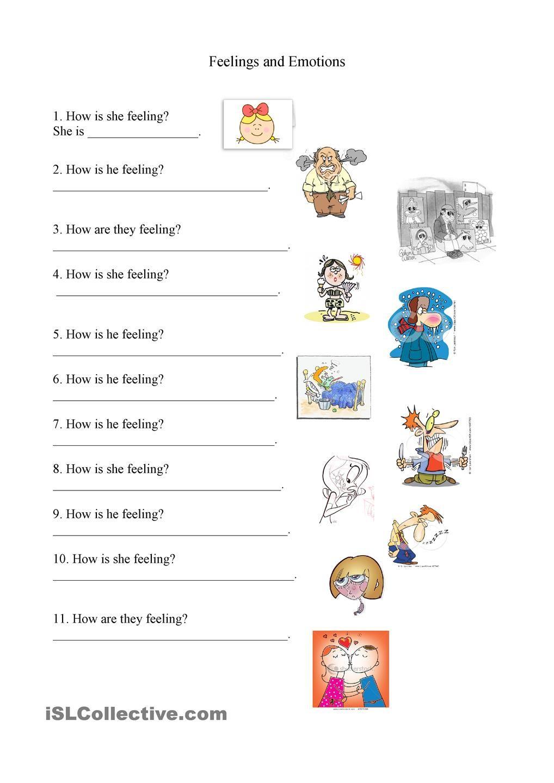 Feelings And Emotions Worksheet | Feelings | Feelings, Emotions | Feelings And Emotions Worksheets Printable
