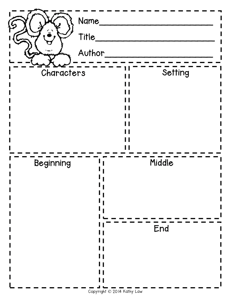 First Grade A La Carte: Story Elements Freebie | Reading In | Free Printable Story Elements Worksheets