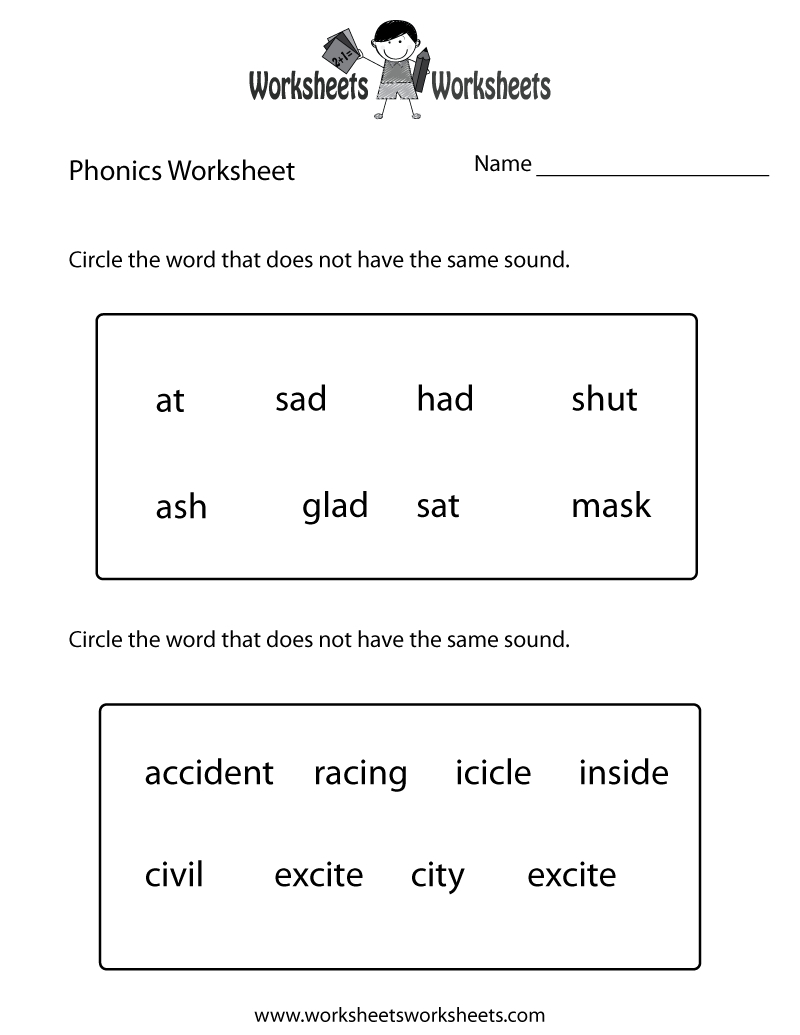 First Grade Phonics Worksheet Printable. The Bottom Part Is Advanced | Free Printable Grade 1 Phonics Worksheets