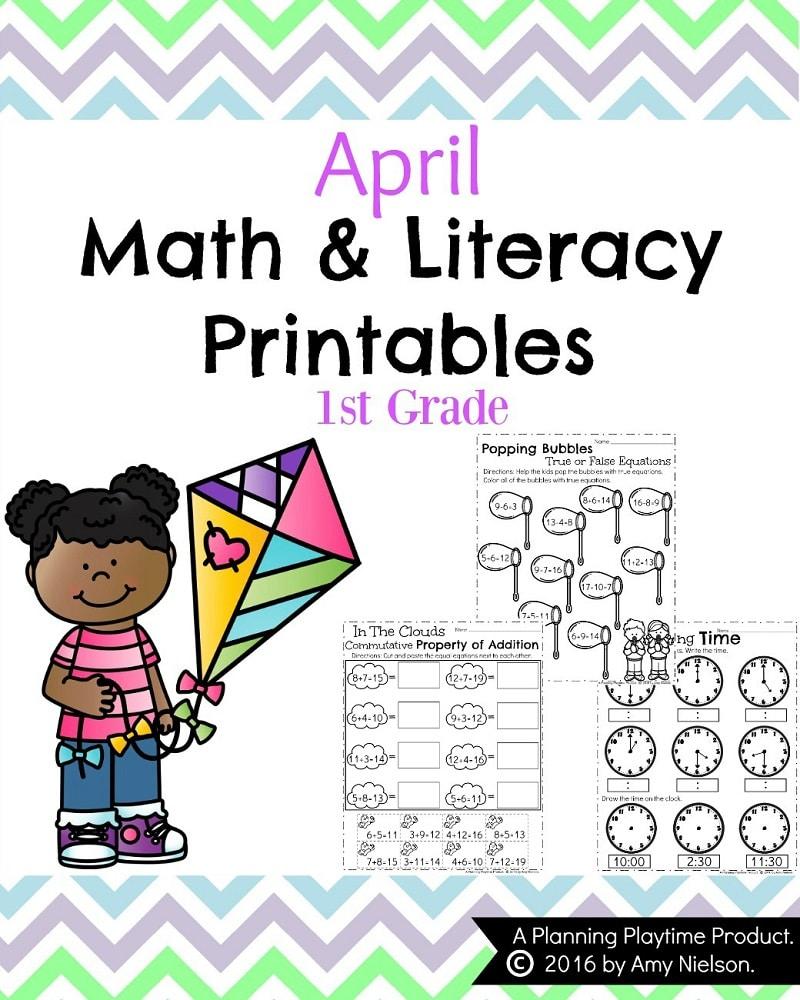First Grade Worksheets For Spring - Planning Playtime   Spring Break Printable Worksheets