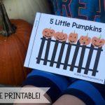Five Little Pumpkins   Free Rhyme Booklet | Five Little Pumpkins Printable Worksheet