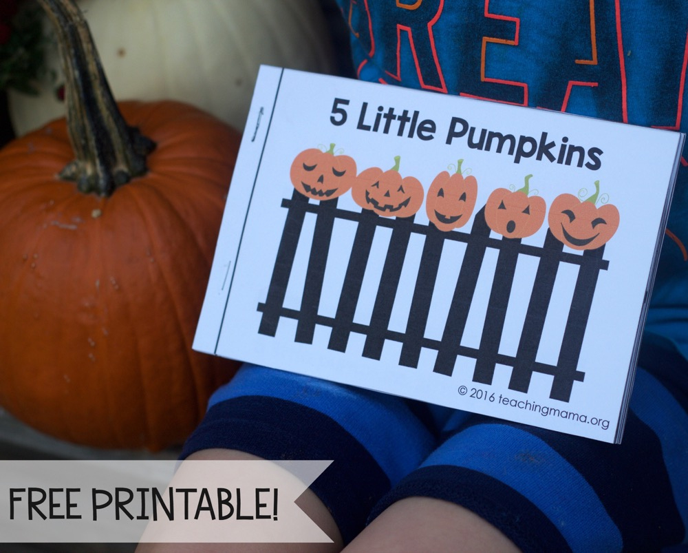 Five Little Pumpkins - Free Rhyme Booklet | Five Little Pumpkins Printable Worksheet