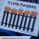 Five Little Pumpkins   Free Rhyme Booklet | Teaching Mama's Posts | Five Little Pumpkins Printable Worksheet