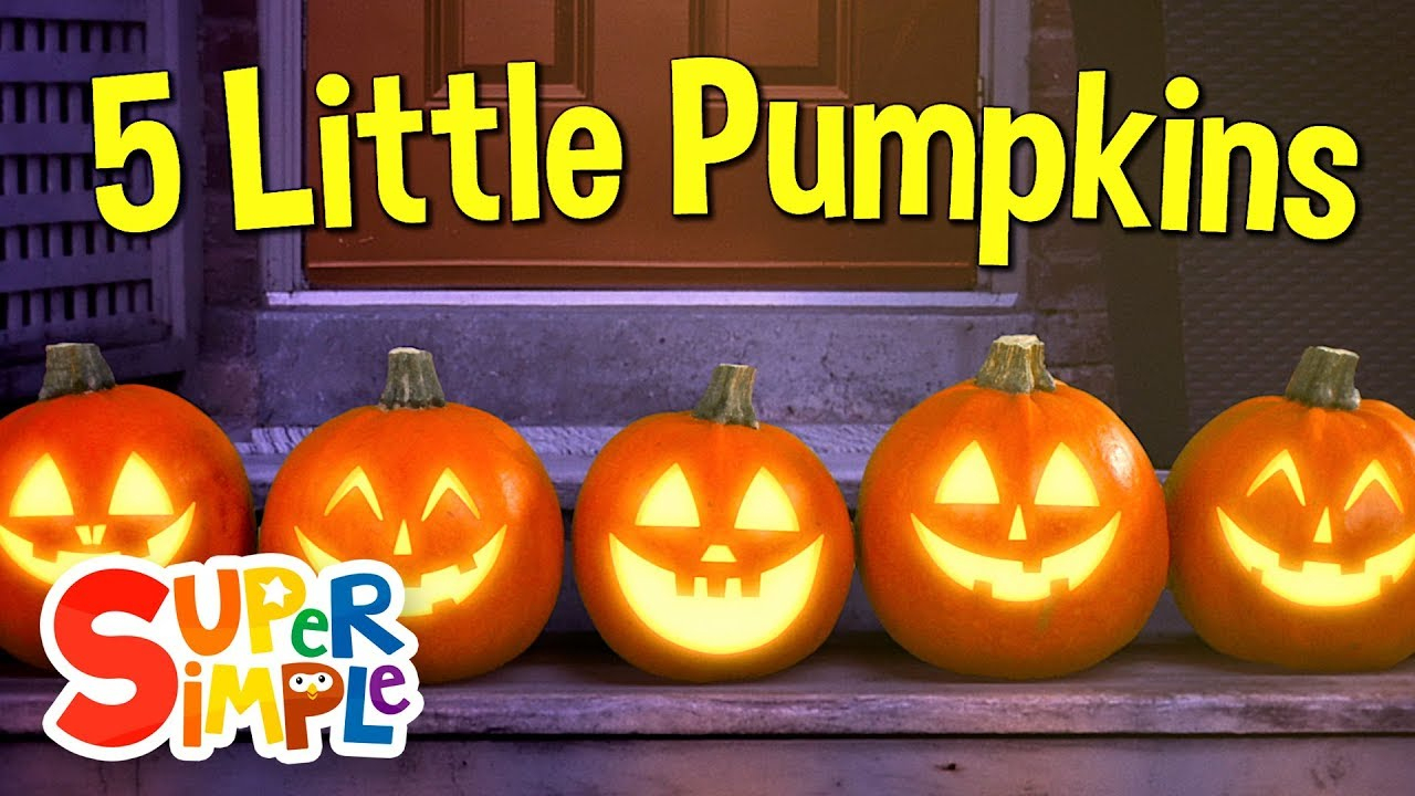Five Little Pumpkins - Super Simple Songs | Five Little Pumpkins Printable Worksheet