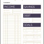 Fix Your Finances Asap With My (Free) Simple Monthly Budget Template | Free Printable Monthly Bills Worksheet