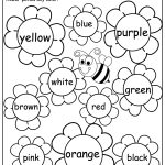 Flower Color Words Worksheet | My Future Classroom | Kindergarten | Learning Colors Printable Worksheets