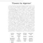 "Flowers For Algernon"" Word Search   Wordmint | Flowers For Algernon Printable Worksheets"