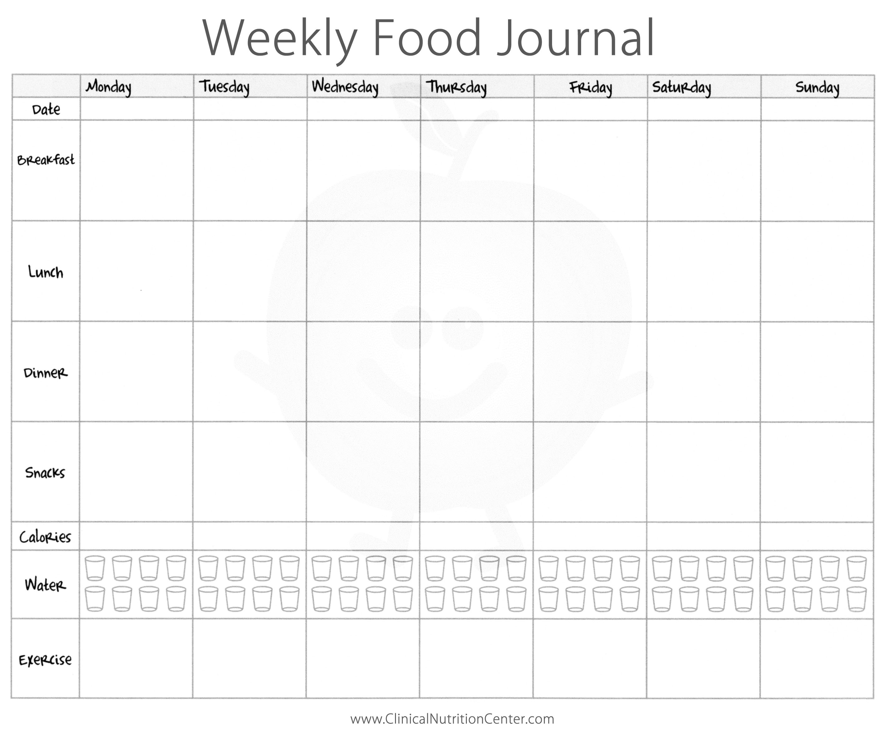 Food Diary Worksheets - Koran.sticken.co | Food Journal Printable Worksheets