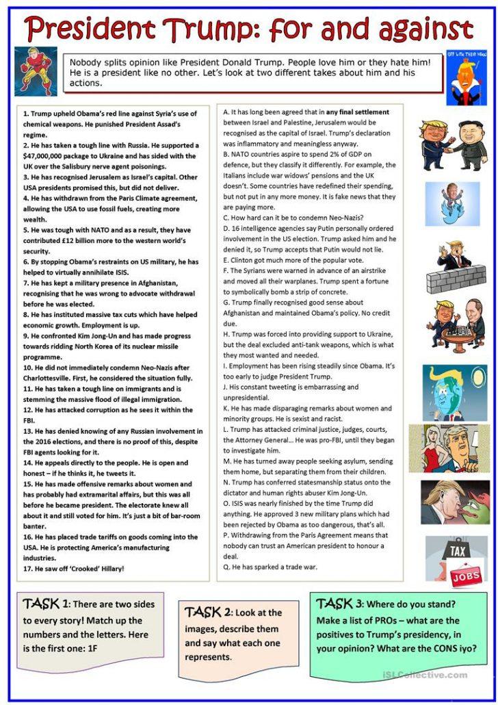 Free Printable President Worksheets