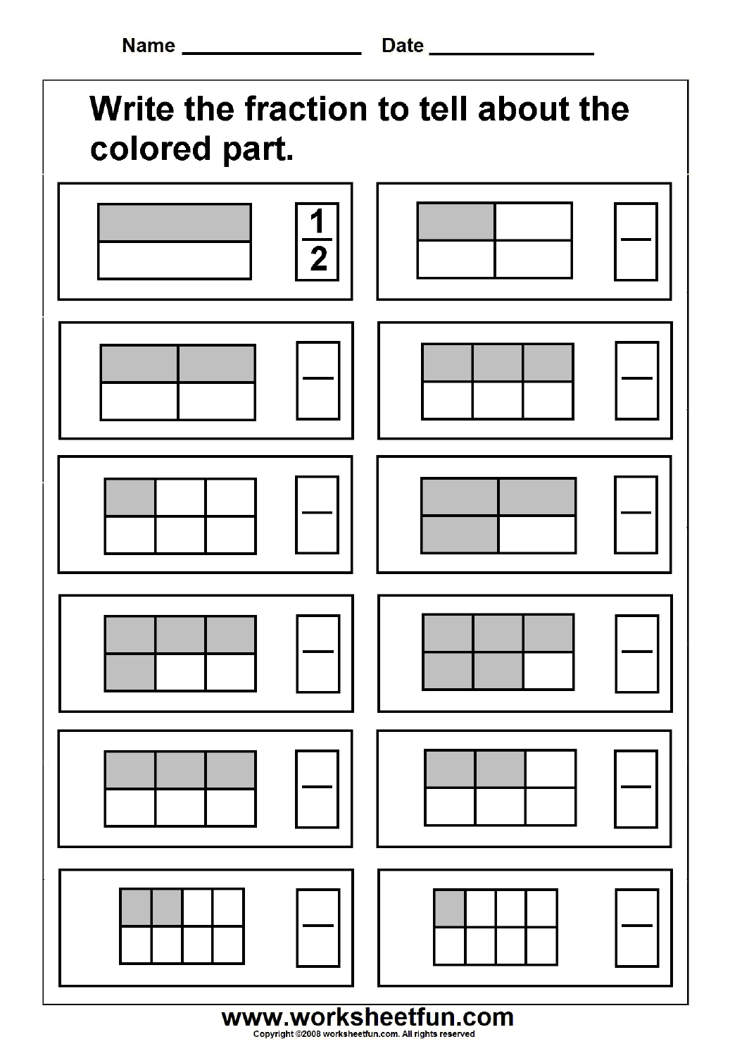 Fraction / Free Printable Worksheets – Worksheetfun | Free Printable Fraction Worksheets