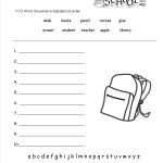 Free Back To School Worksheets And Printouts | Free Printable Worksheets For Elementary Students