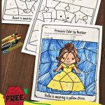 Free Beauty And The Beast Colornumber Worksheets | Hs  Preschool | The Printable Princess Worksheets