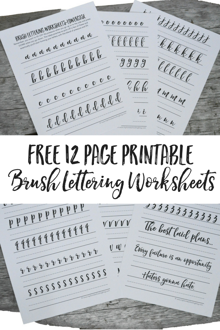 Free Brush Lettering Worksheets | Free Printable Calligraphy Worksheets