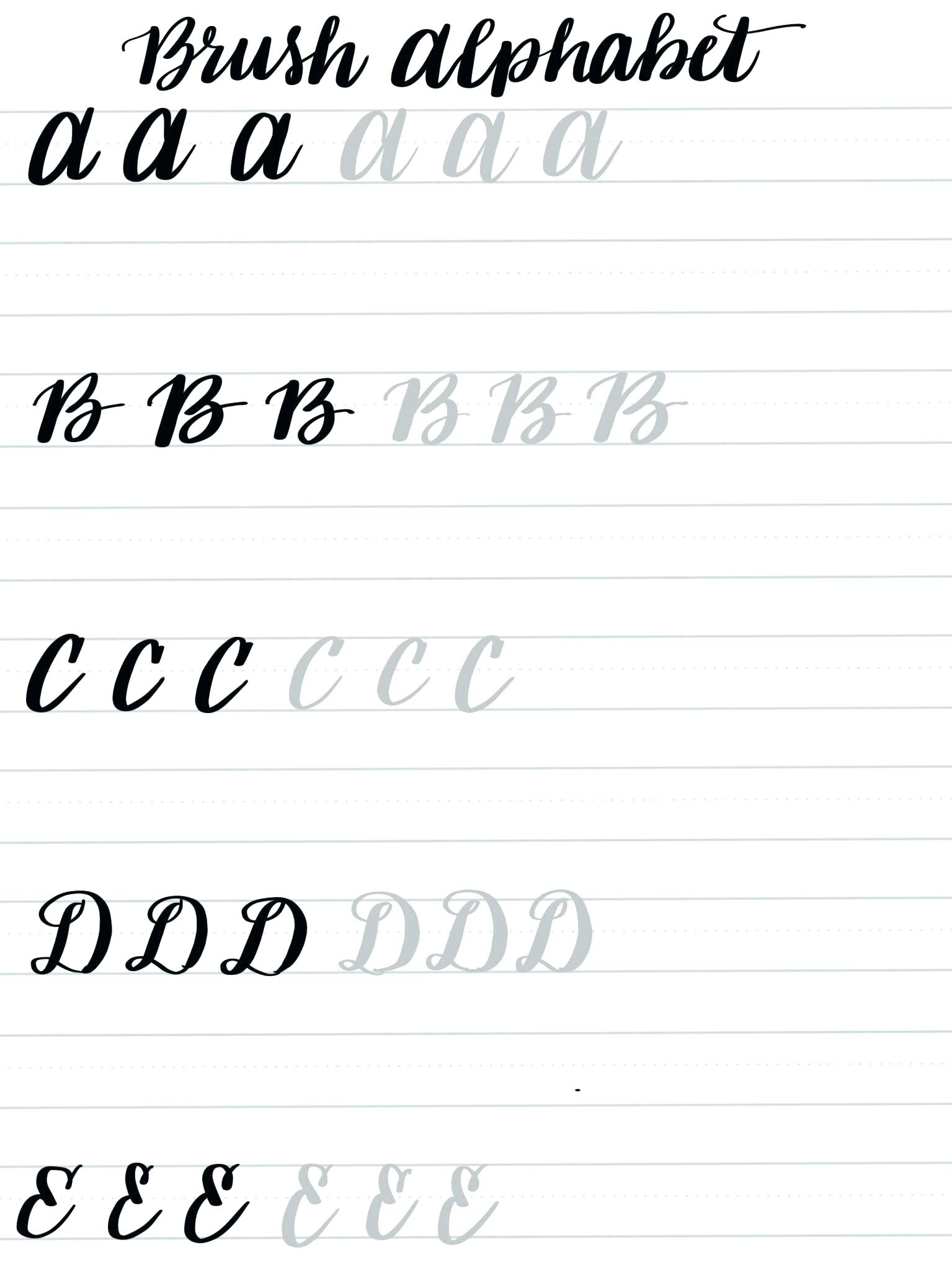 Free Calligraphy Practice Sheets Printable – Pointeuniform.club | Printable Calligraphy Practice Worksheets