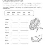 Free Compound Word Worksheets | Language Arts Pdf | Free Printable Compound Word Worksheets