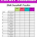 Free Debt Snowball Printable Worksheet: Track Your Debt Payoff | Free Printable Debt Snowball Worksheet