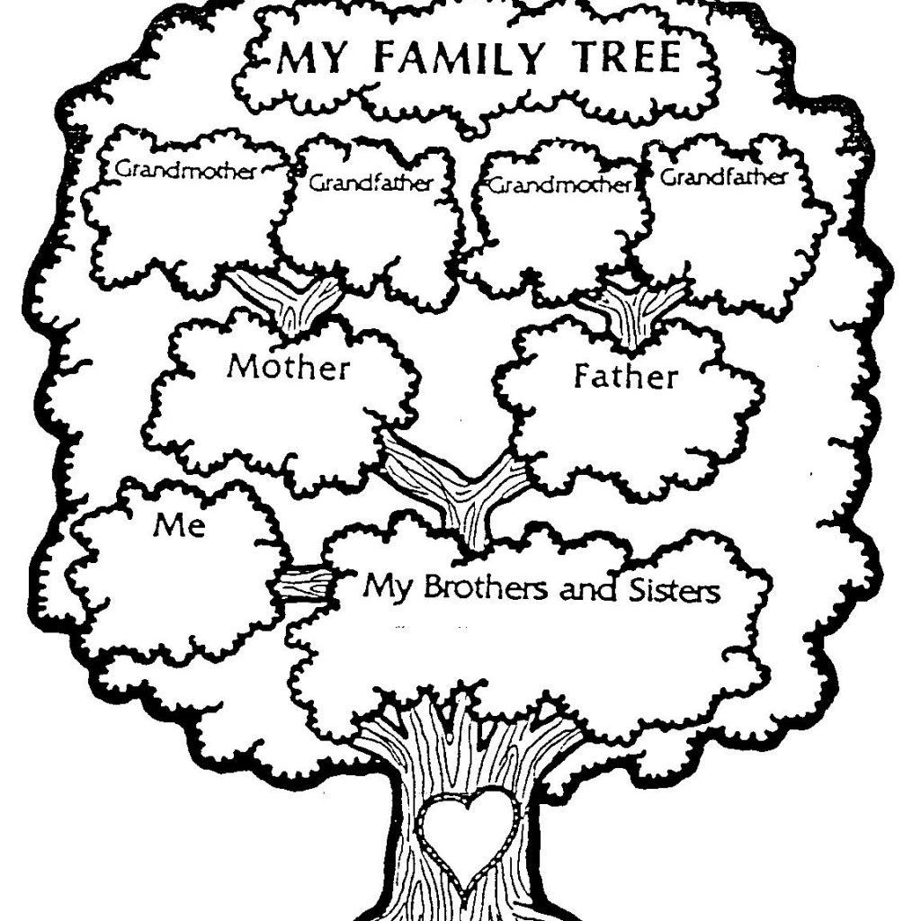 Free Download - Family Tree Coloring Page | Genealogy, Charts, Dna | My Family Tree Free Printable Worksheets