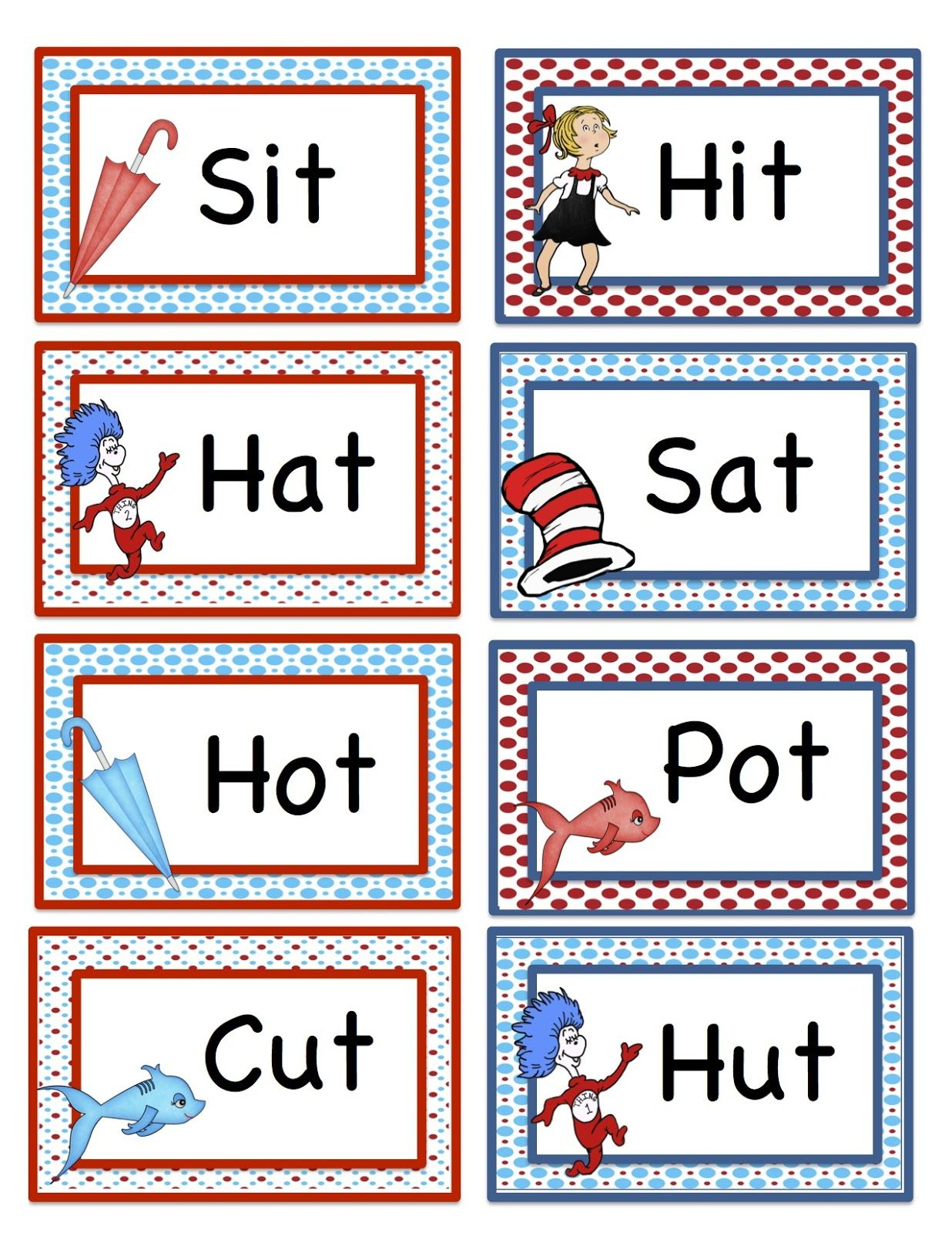 Free Dr Suess Printables Preschool Seuss Rhyming Printable | Free Printable Dr Seuss Math Worksheets