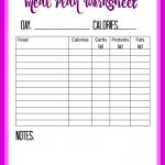 Free Food Diary And Calorie Tracker Printable   Debt Free Spending | Free Printable Calorie Counter Worksheet
