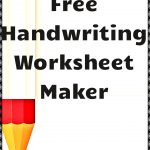 Free Handwriting Worksheet Maker! | Kindergartenklub | Worksheet | Create Cursive Worksheets Printable