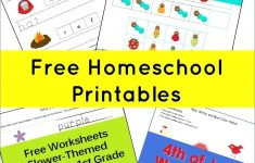 Free Homeschool Printable Worksheets Math The Happy Home Scho | Homeschool Printable Worksheets Kindergarten