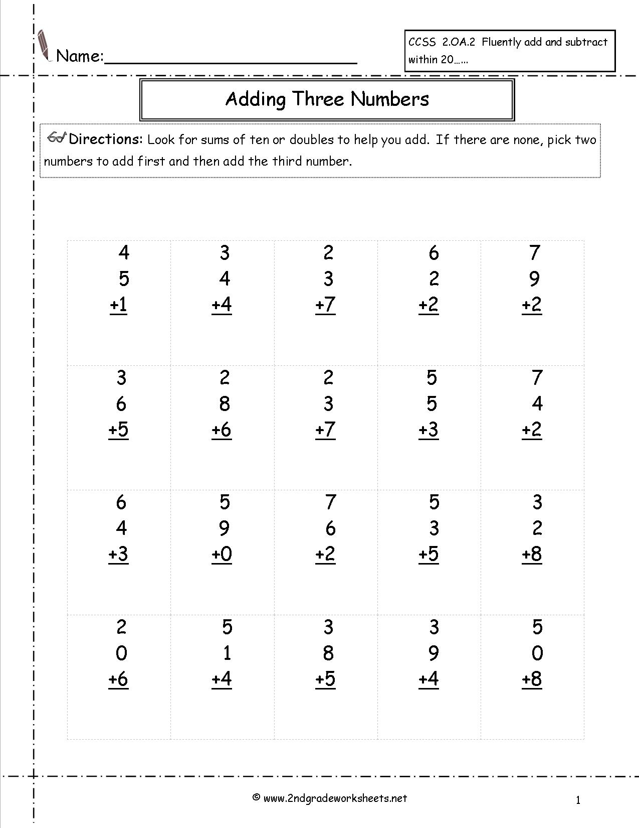 Free Math Worksheets And Printouts   Math Worksheets For Teachers Printable