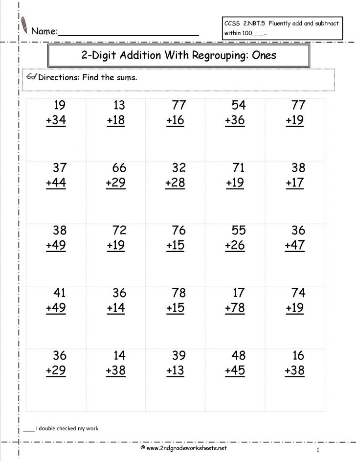 Second Grade Printable Worksheets