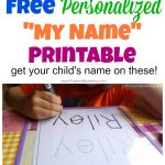 Free Name Tracing Worksheet Printable + Font Choices | Trace Your Name Worksheets Printables