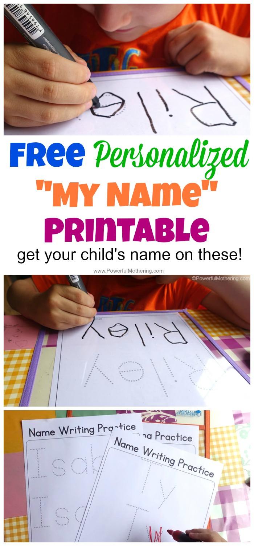 Free Name Tracing Worksheet Printable + Font Choices | Trace Your Name Worksheets Printables