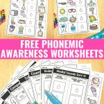 Free Phonemic Awareness Worksheets   Interactive And Picture Based | Free Printable Phoneme Segmentation Worksheets
