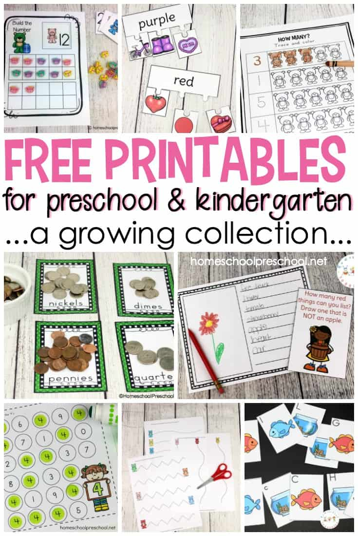 Free Preschool Printables For Your Homeschool Preschool | Free Homeschool Printable Worksheets