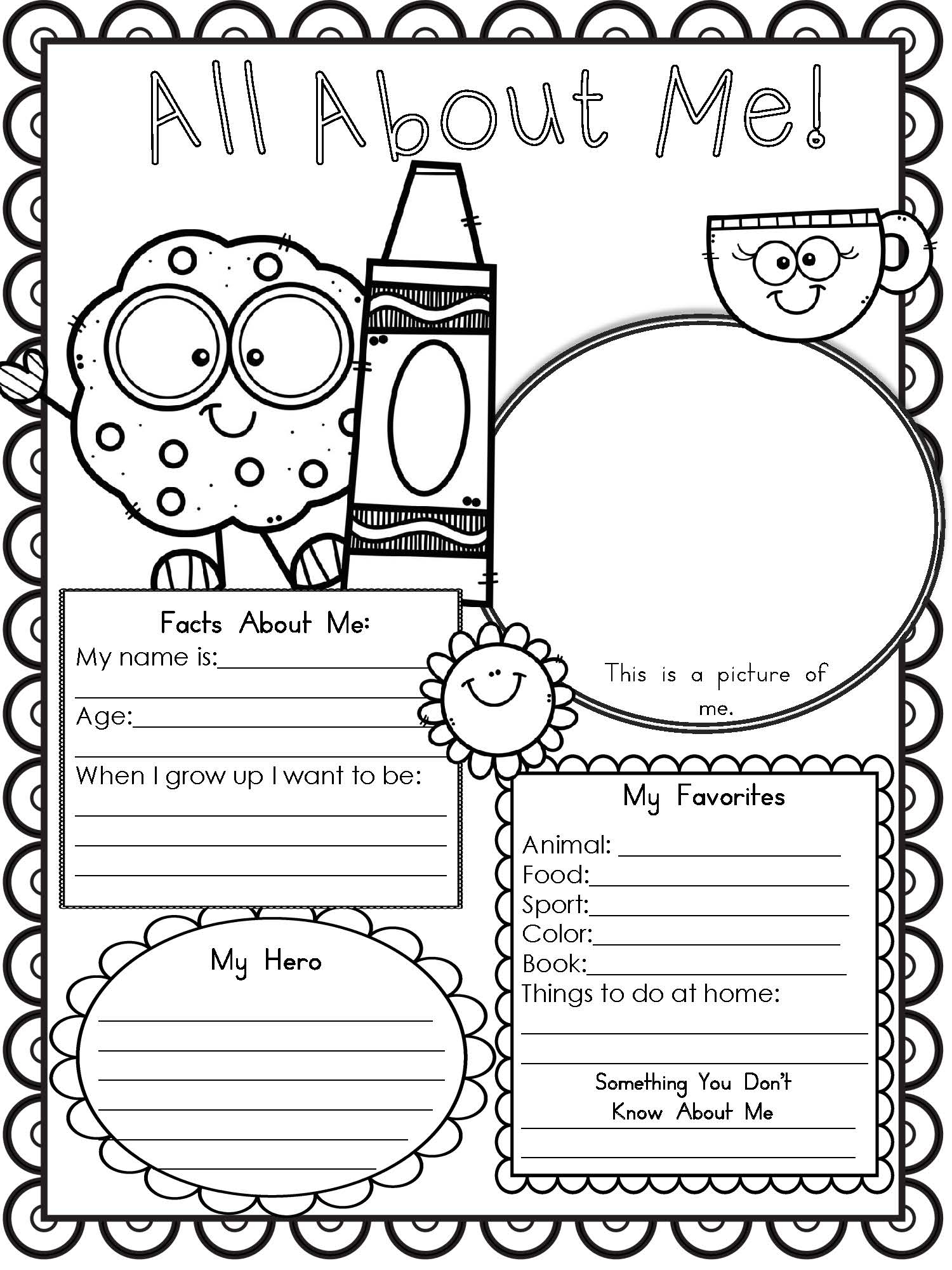 Free Printable All About Me Worksheet - Modern Homeschool Family | All About Me Printable Worksheets