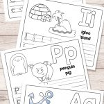 Free Printable Alphabet Book   Alphabet Worksheets For Pre K And K | Alphabet Practice Worksheets Printable