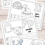 Free Printable Alphabet Book   Alphabet Worksheets For Pre K And K | Childrens Printable Alphabet Worksheets