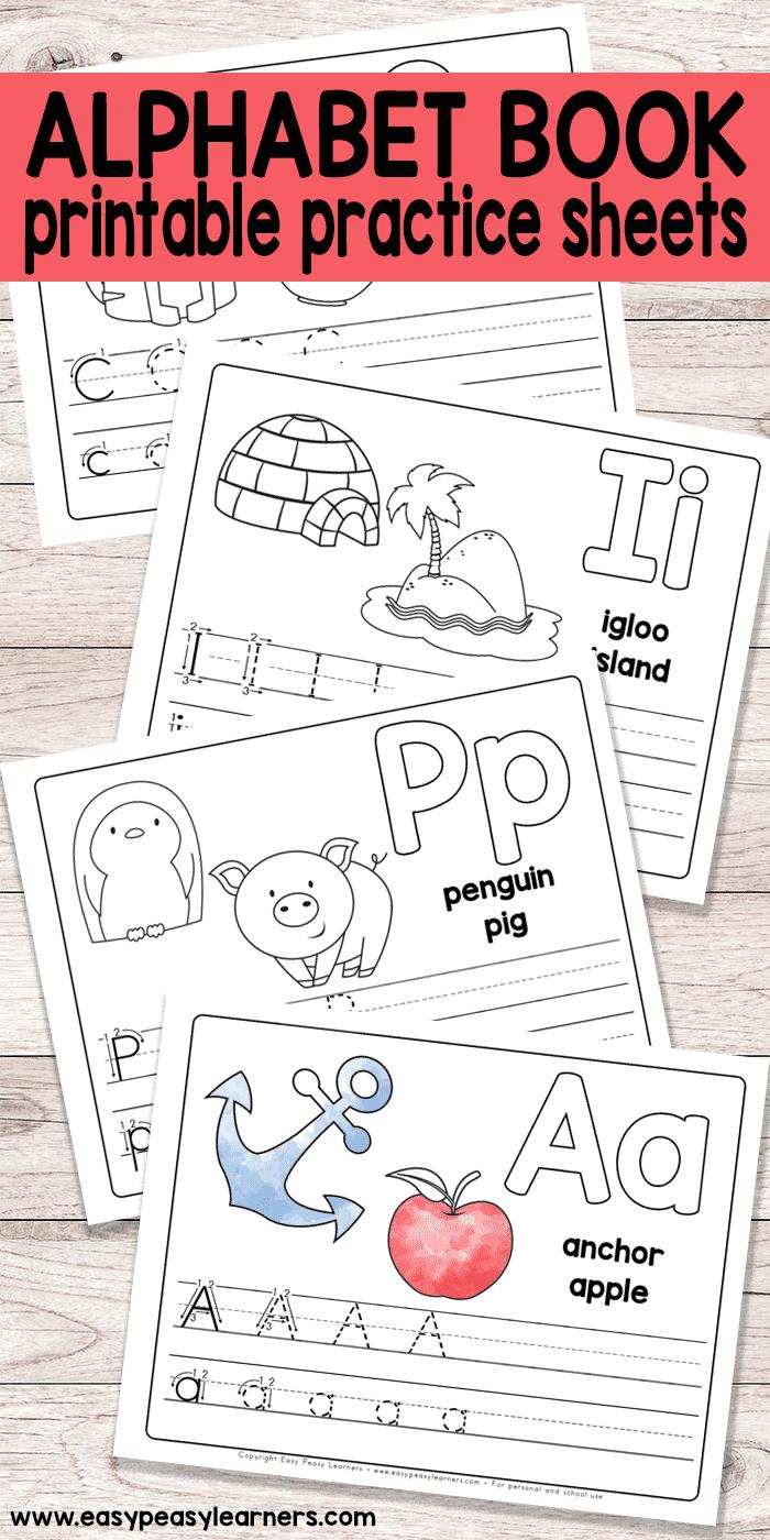 Free Printable Alphabet Book - Alphabet Worksheets For Pre-K And K | Free Printable Alphabet Worksheets