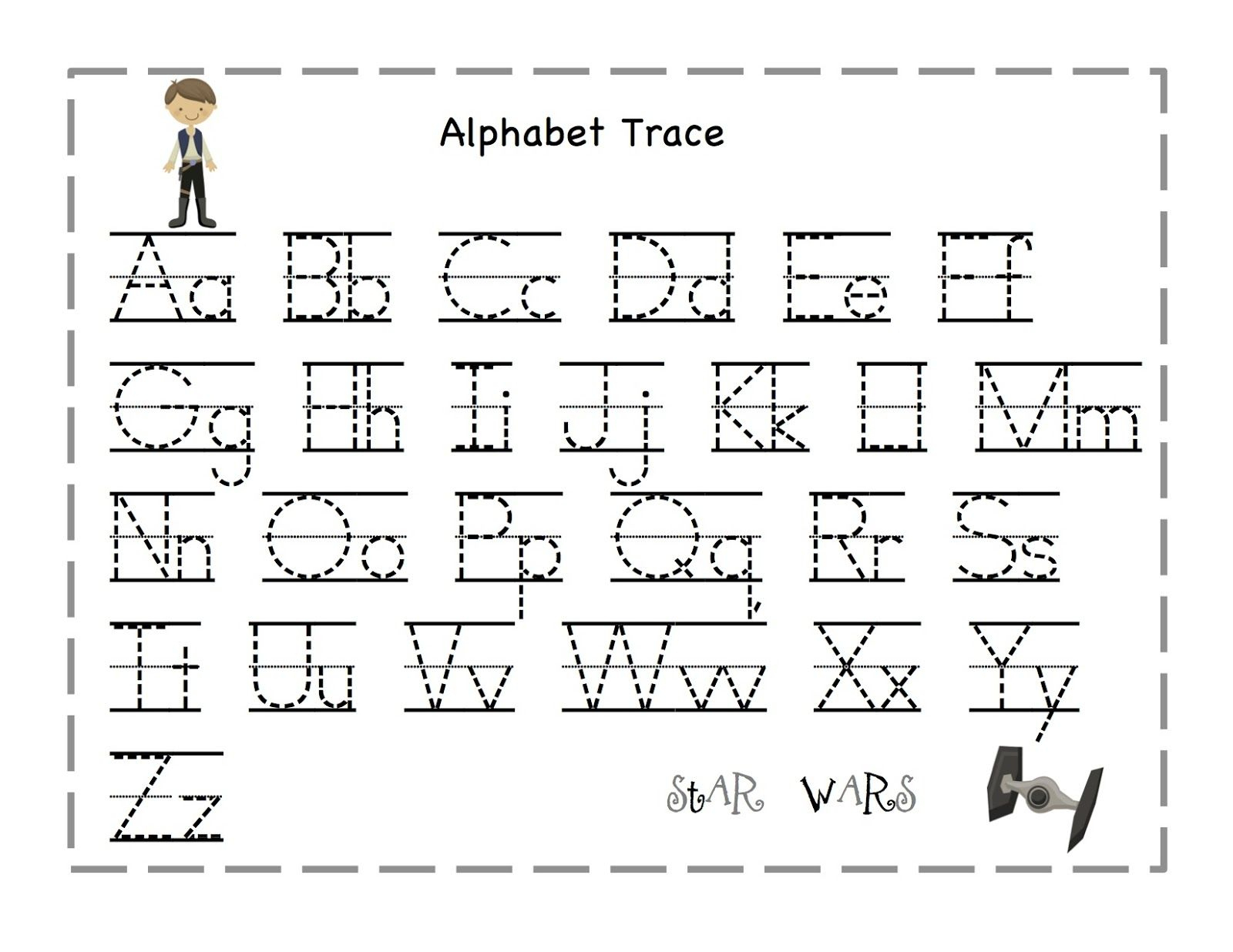 Free Printable Alphabet Letter Tracing Worksheets | Angeline - Free | Letter Tracing Worksheets Free Printable