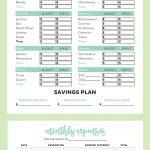 Free Printable Budget Worksheet Planner Insert Page. Personal | Free Online Printable Budget Worksheet